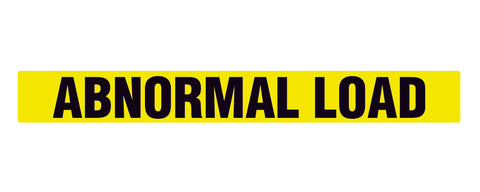 Abnormal Load Sign - Decal - Sticker