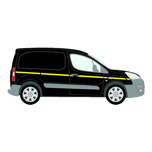 Citroen Berlingo Mk2b SWB SD 2016+  Reflective Side Marking kit