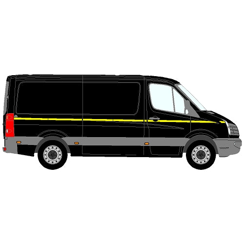 Volkswagen Crafter Mk1 (LT3) Long Wheelbase (L3) SD 2006-2017 - Reflective Side Marking kit