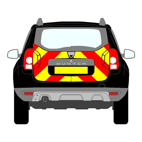 Dacia Duster Mk1 Rear Chevrons (2009-2018)