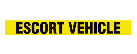 Escort Vehicle Sign - Decal - Sticker