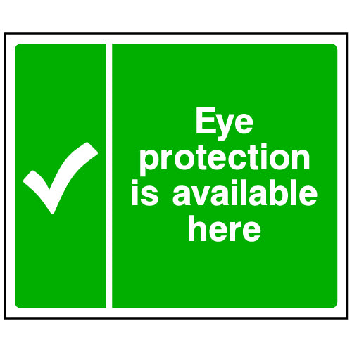 Eye Protection Available Here Sign