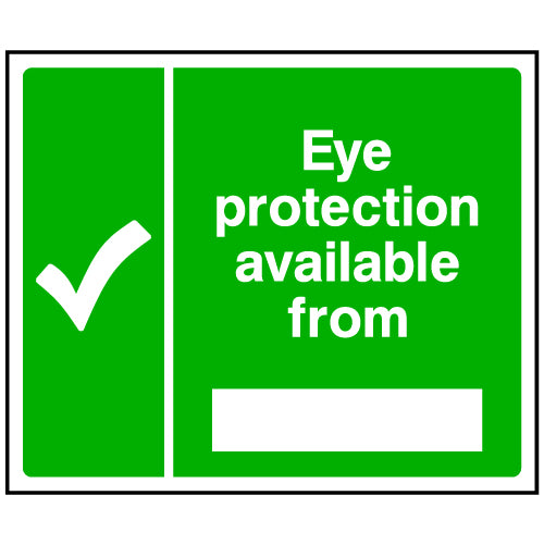 Eye Protection Available From Sign