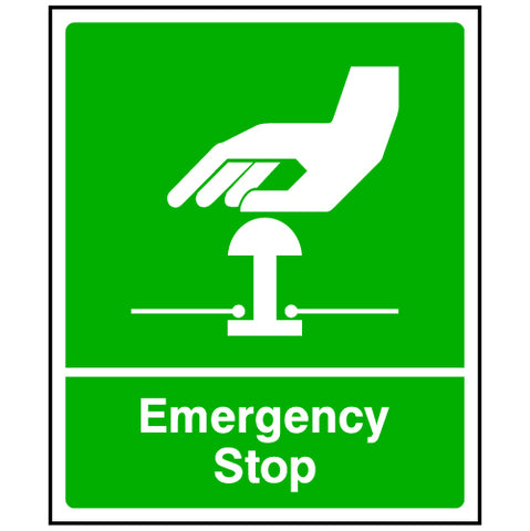 Green Emergency Stop Sign