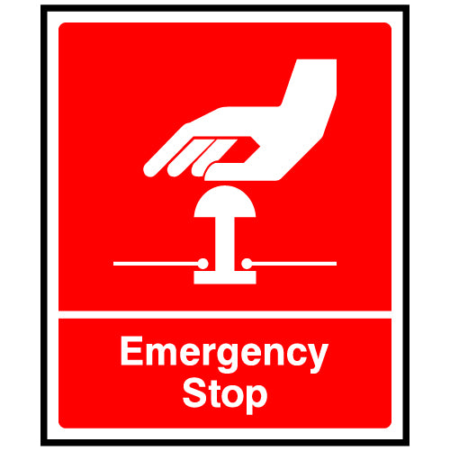 Red Emergency Stop Sign