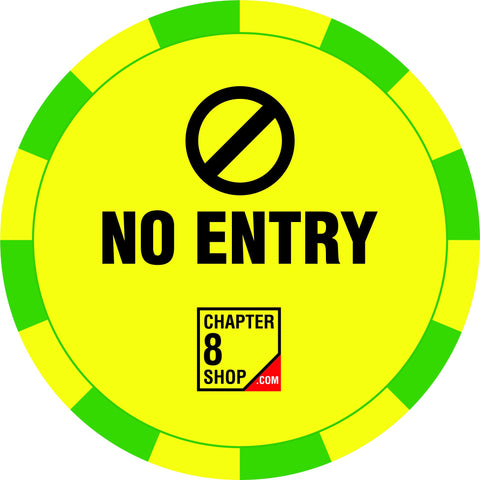 No Entry Social Distancing Floor Sticker