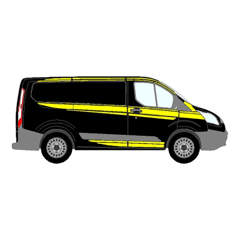 Ford Transit Custom Mk1 SWB Single Sliding Door - M Sport Style - Side Marking Kit