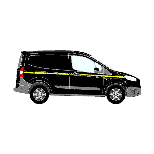 Ford Transit Courier Mk2 2014+ SWB Single sliding door- Reflective Side Marking kit