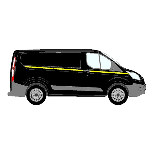 Ford Transit Custom Mk1 SWB 2013+ - Reflective Side Marking kit