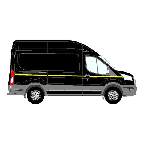 Ford Transit Mk5 ND MWB 2014+ - Reflective Side Marking kit