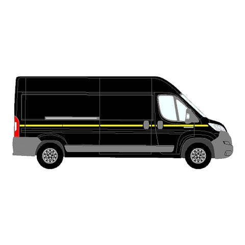Peugeot Boxer Mk2 LWB DD 2014+ - Reflective Side Marking kit