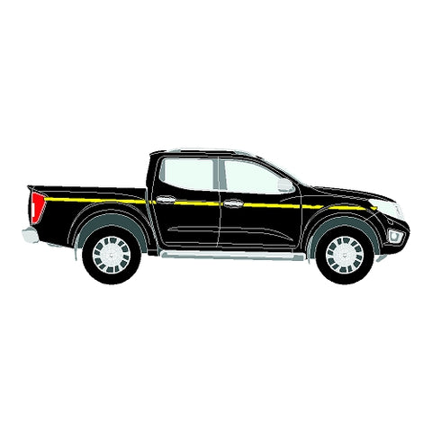 Nissan Navara Mk3 (D23) Double Cab 2014+ - Reflective Side Marking kit