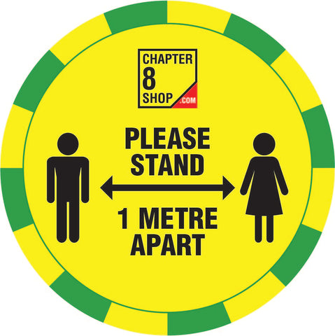 Please Stand 1m Apart Social Distancing Floor Sticker