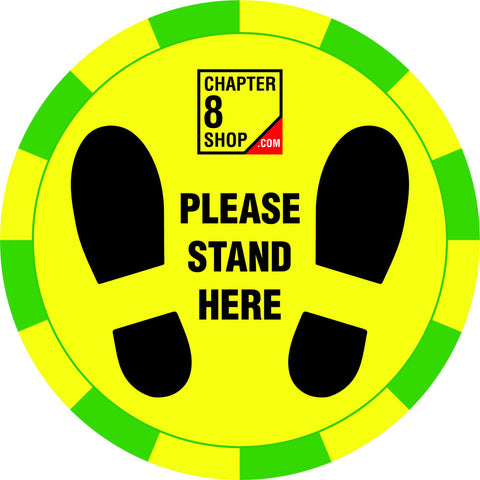 Please Stand Here Social Distancing Floor Sticker