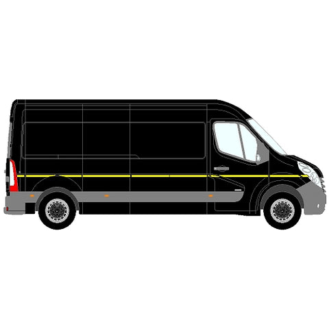 Citroen Relay Mk2 LWB (L3) SD 2006+  - Reflective side markings kit