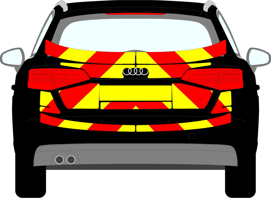 Audi S3 Mk3 5 Door Hatchback Rear Chevrons (2013-2016)