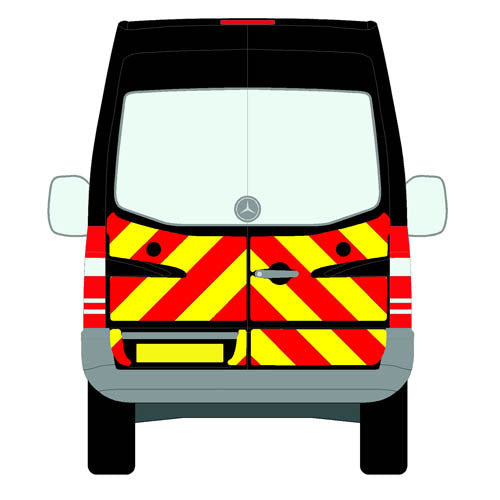 Mercedes Sprinter Mk2 (906) NCV3 All Roofs 2006-2018 chapter 8 chevron kit