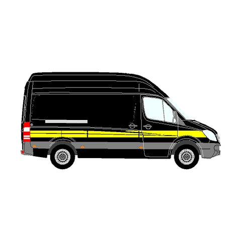 Mercedes Sprinter Mk2 (906) NCV3 MWB Side Marking Stripe 2006+