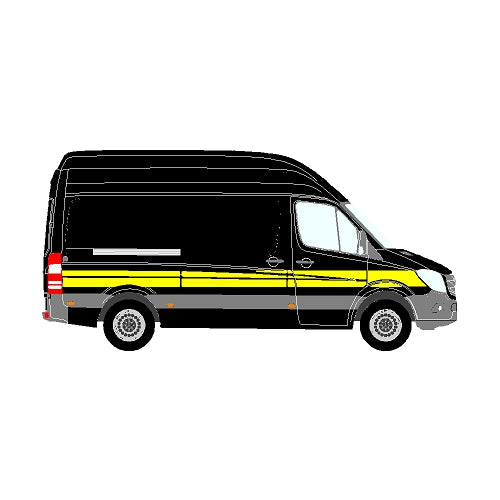 Mercedes Sprinter Mk2 (906) NCV3 MWB Side Marking Stripe (2013+)