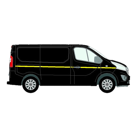 Renault Trafic MK3 SWB 2014+ - Reflective Side Marking kit