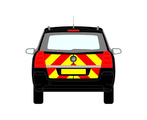 Vauxhall Zafira B MPV Rear Chevrons 2005-2011 chapter8 chevron kit