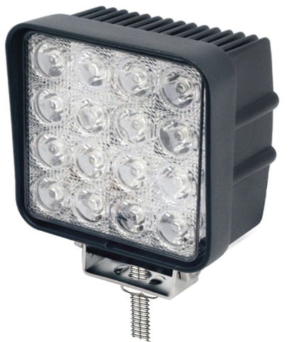 10v/30v 16 x 3w Square Work Flood Lamp