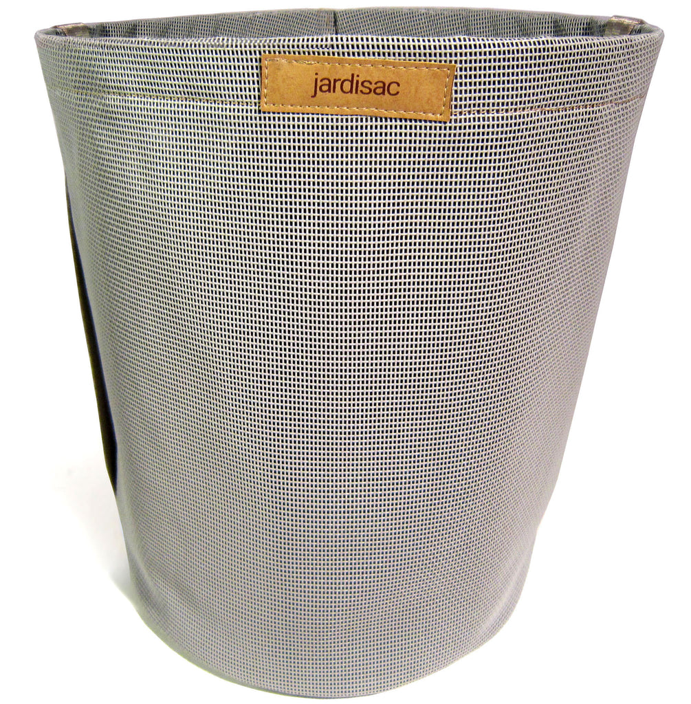 Grey geotextile garden pot for flowers and vegetable