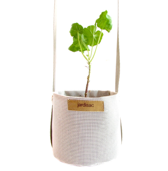 white hanging planters pot for outdoor indoor geotextile