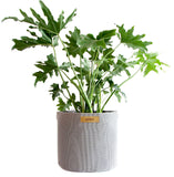 Grey hanging plant pots outdoor pots balcony planter in geotextile