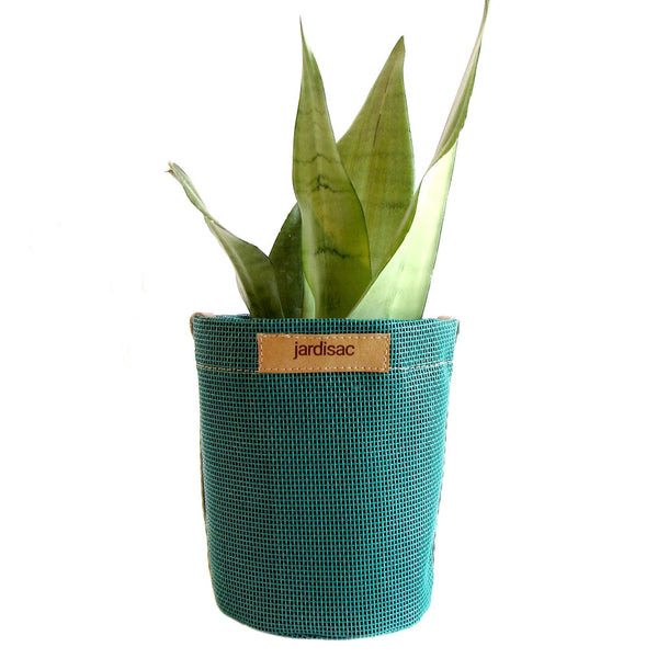 fabric pot cheap green in geotextile with side handle