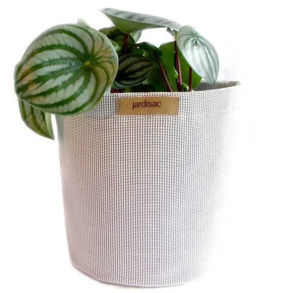 white plant pots outdoor indoor plastic and geotextile fabrics