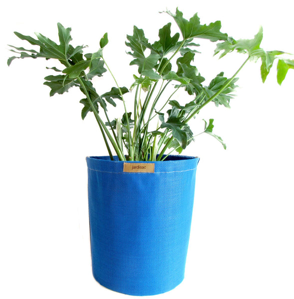 Plant Pots Blue 30cm in geotextile and breathable polyester fabric