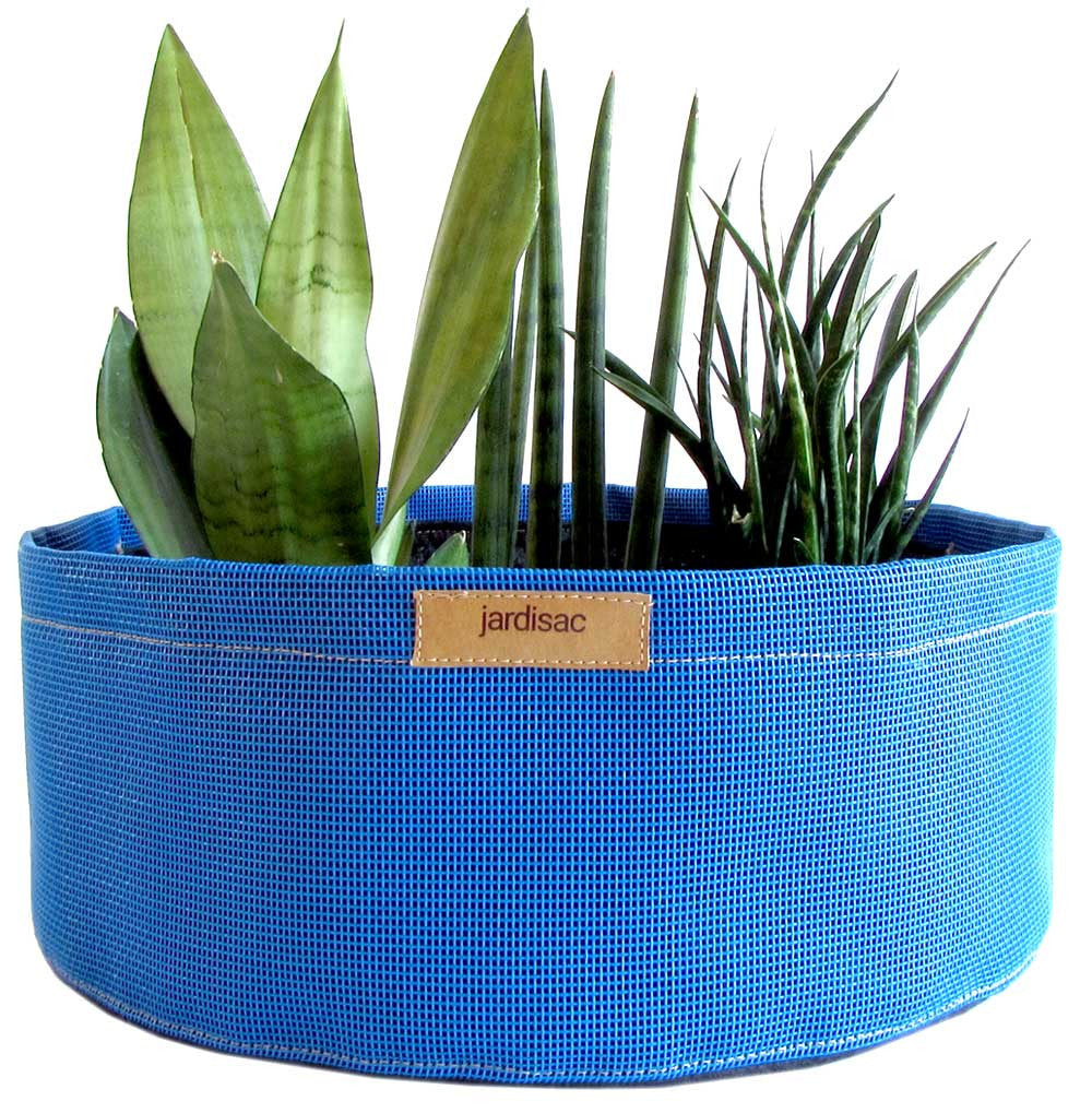 large planters blue in geotextile and plastic cheap fabric pot
