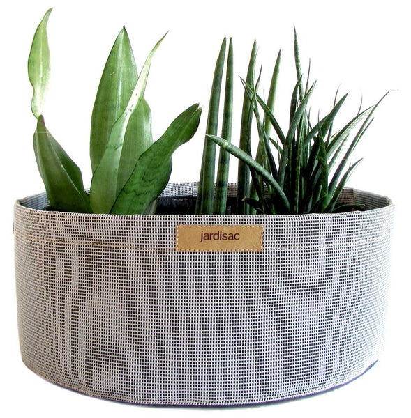 Large planters grey  cheap container in plastic and geotextile