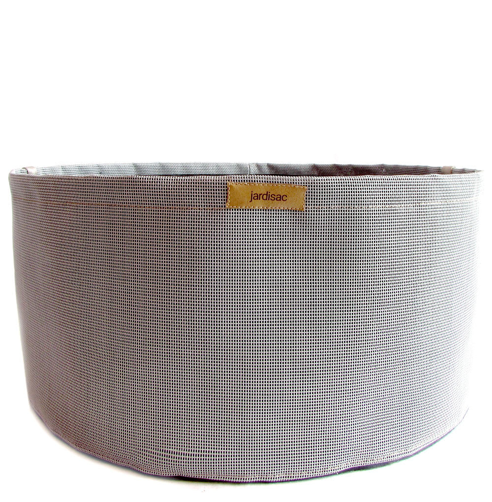 Large Plant Pots grey in geotextile to easy grow a garden