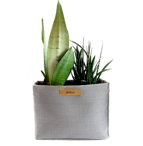 geometric plant pots grey in geotextileplanters box for gardening flowers