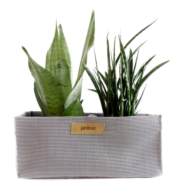 Fabric Pots grey in plastic plant pots with handle on the side outdoor indoor flower pots