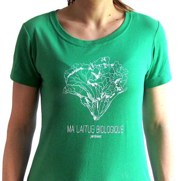 Tshirt green for women jardisac plant pot