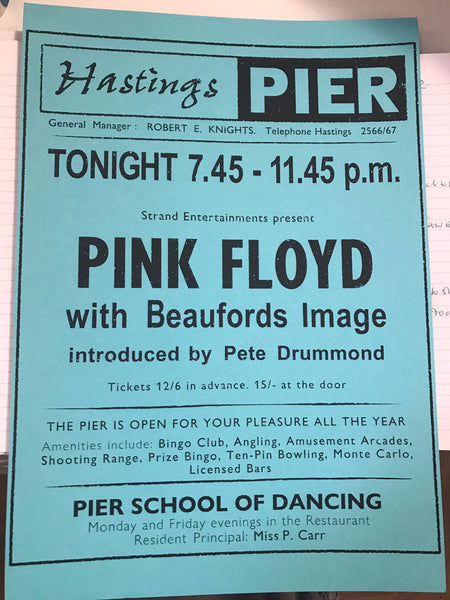 Screen print PINK FLOYD unframed *