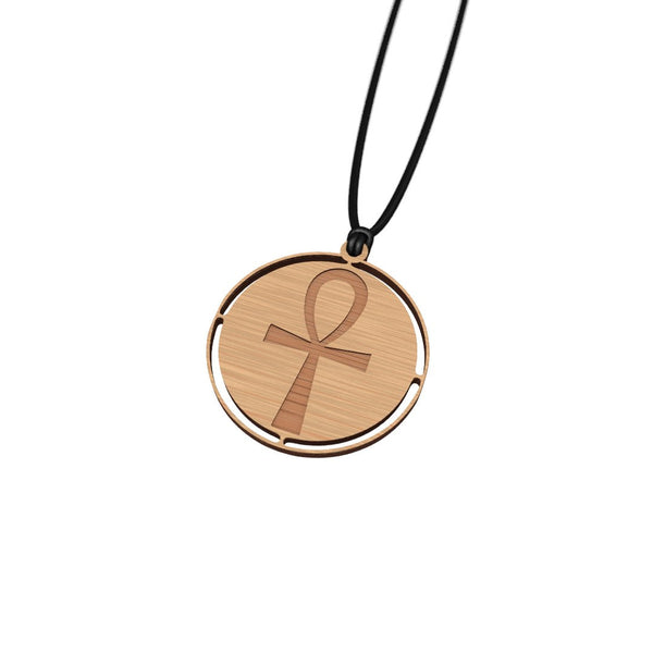 Wooden Ankh necklace