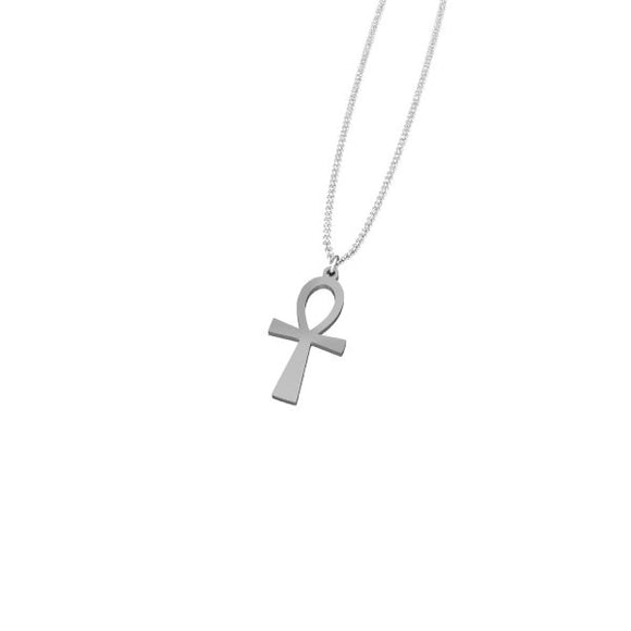 Sterling Silver Ankh Necklace - Infinity 6 Apparel, LLC