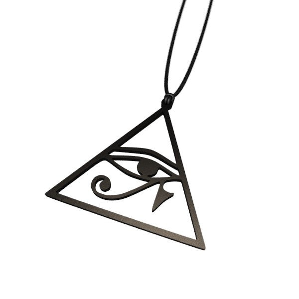 Matte Black Eye of Horus Necelace