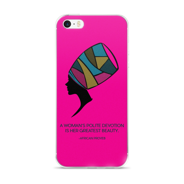 The Colorful Mind of Her (Pink) iPhone case