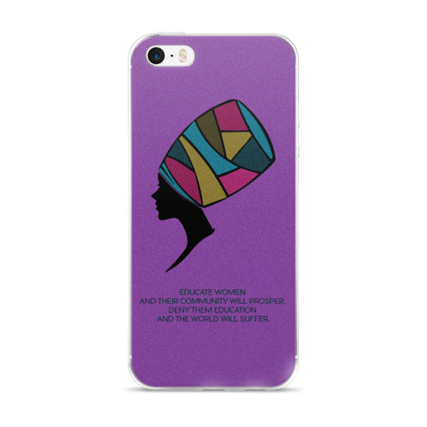 The Colorful Mind of Her (Purple) iPhone case