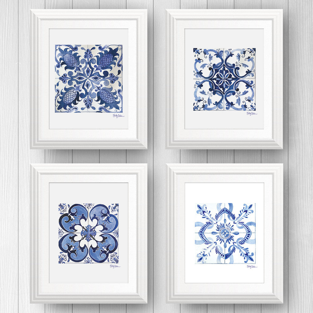 New Product: Blue and White Tile Art Prints