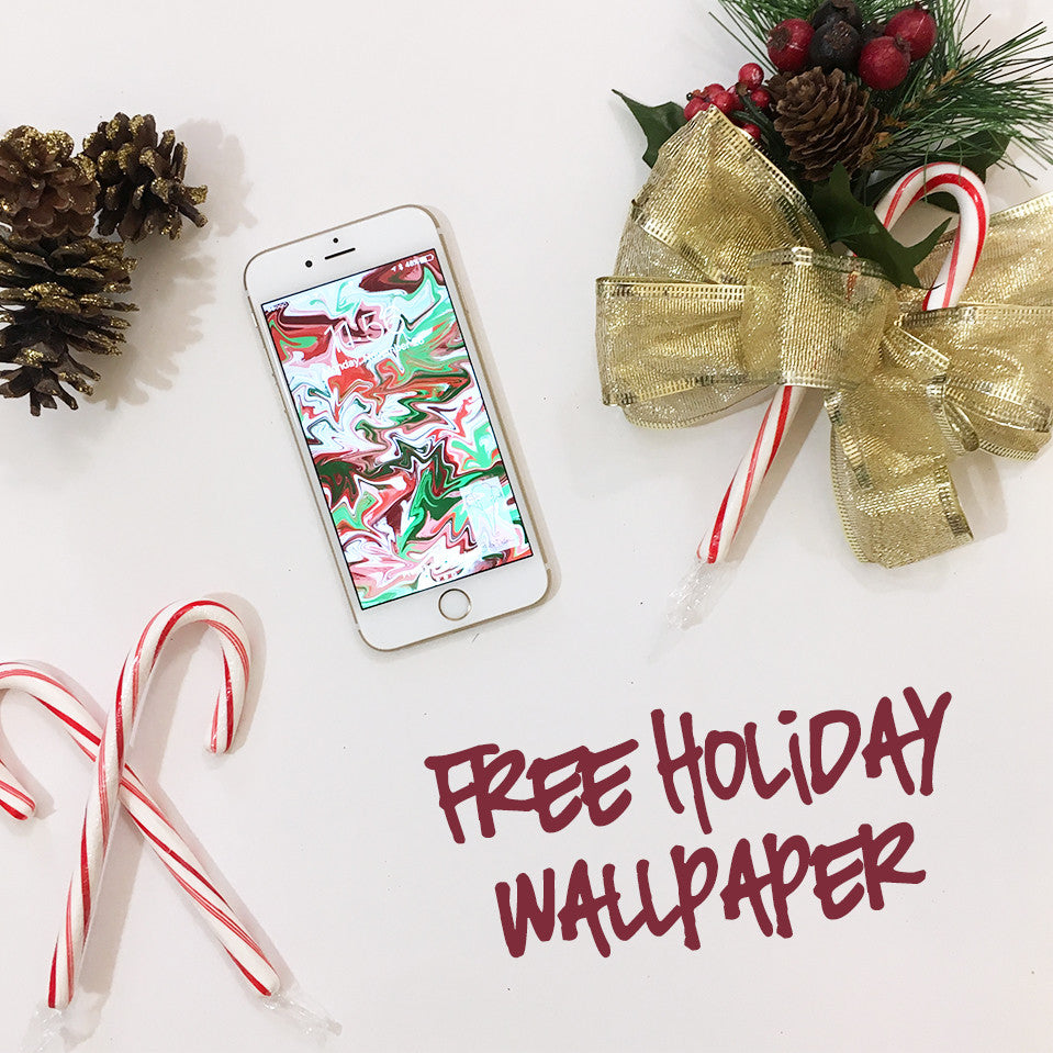 Free Holiday iPhone Wallpaper from Shelby Dillon Studio