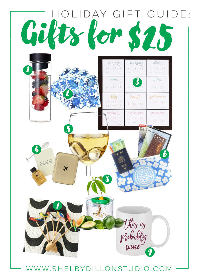 Holiday Gift Guide - Gifts for $25 or Under