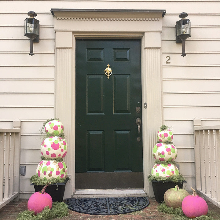 Easy, No-Cut DIY Pumpkin Topiary for Halloween
