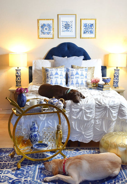 Blue and White Bedroom Envy