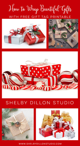 Gift wrap ideas and free printable tags shelby dillon studio free gift wrap tips negle Gallery